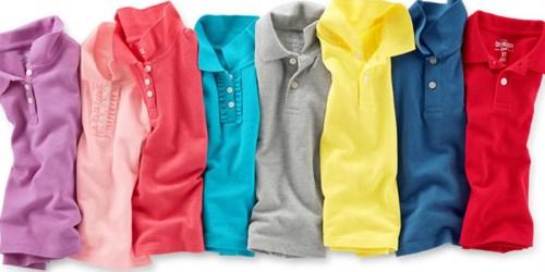THREE OshKosh B'Gosh Uniform Polo Shirts Only $16 (Just $5.33 Each)