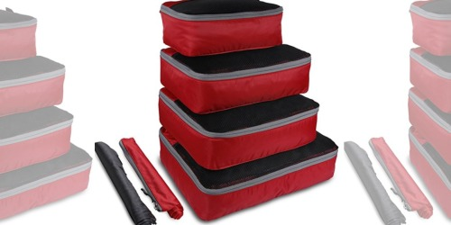 Amazon: OXA 4-Piece Packing Cube Set, Laundry Bag AND Shoes Bag Just $13.79