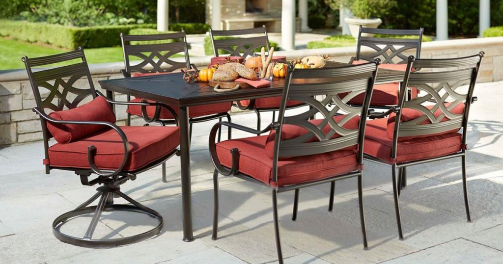 Home Depot Hampton Bay 7 Piece Patio Dining Set Cushions Only 299 50 Regularly 599 More Hip2save
