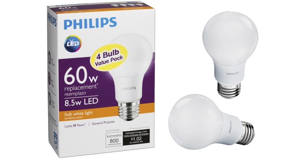 Best Buy: Philips LED 60W Equivalent Light Bulb 4-Pack Only