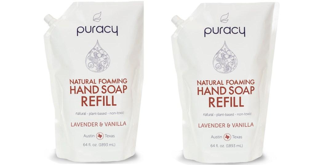Amazon Puracy Natural Foaming Hand Soap 64oz Refill Packs