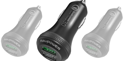 Amazon: RAVPower Quick Car Charger Only $7.99 (Includes 2 Ports)