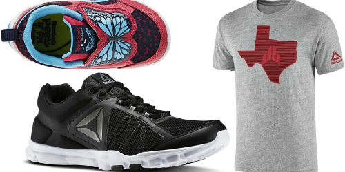Reebok: Up to 40% Off Labor Day Sale = 2 Pairs of Shoes AND 2 Tees Just $56.94 Shipped