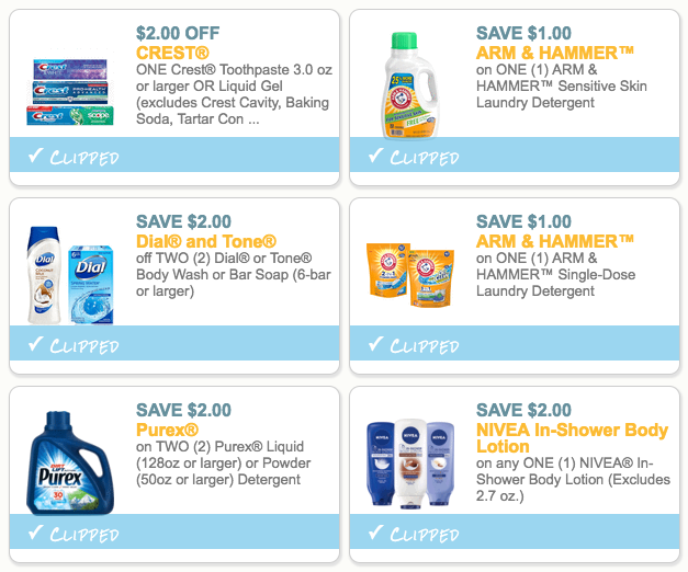 image about Crest Coupons Printable identified as Best 6 Coupon codes in the direction of Print (Help save upon Crest, Dial, Arm Hammer