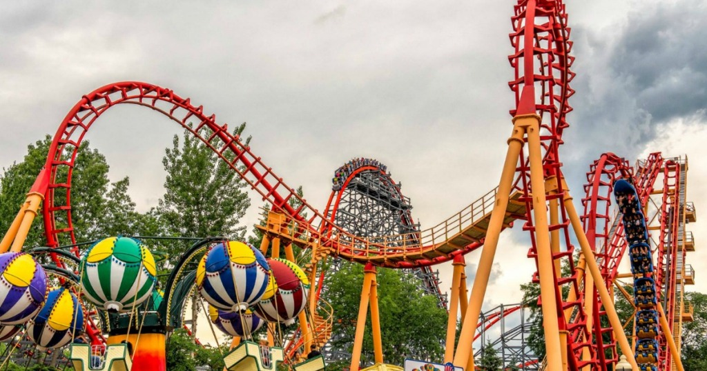 Six Flags Pass Flash Sale Roller Coaster view