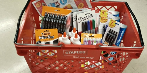 Staples Price Match Deal Ideas: HUGE Savings on BIC Pens, Elmer's Glue, BIC Wite-Out + More