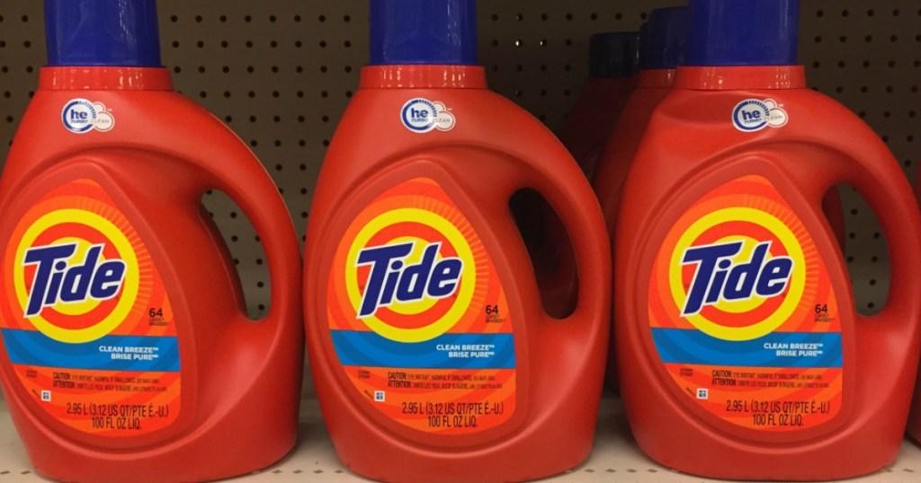3 bottles Tide 100 oz Laundry Detergent