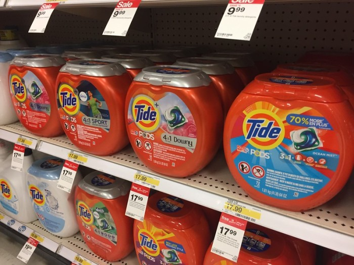 ae0c757e5e And use the  2 1 Tide Detergent or Tide Pods printable coupon (limit 1) Pay   30.98. Get back a FREE  5 Target Gift Card Final cost  25.98