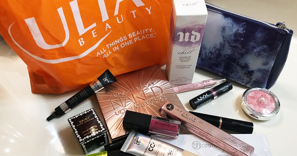 ulta bag and makeup