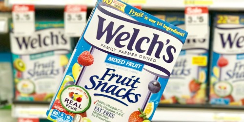 New $1/2 Welch's Fruit Snacks or Rolls Coupon = Just $1.12 Per Box at Target