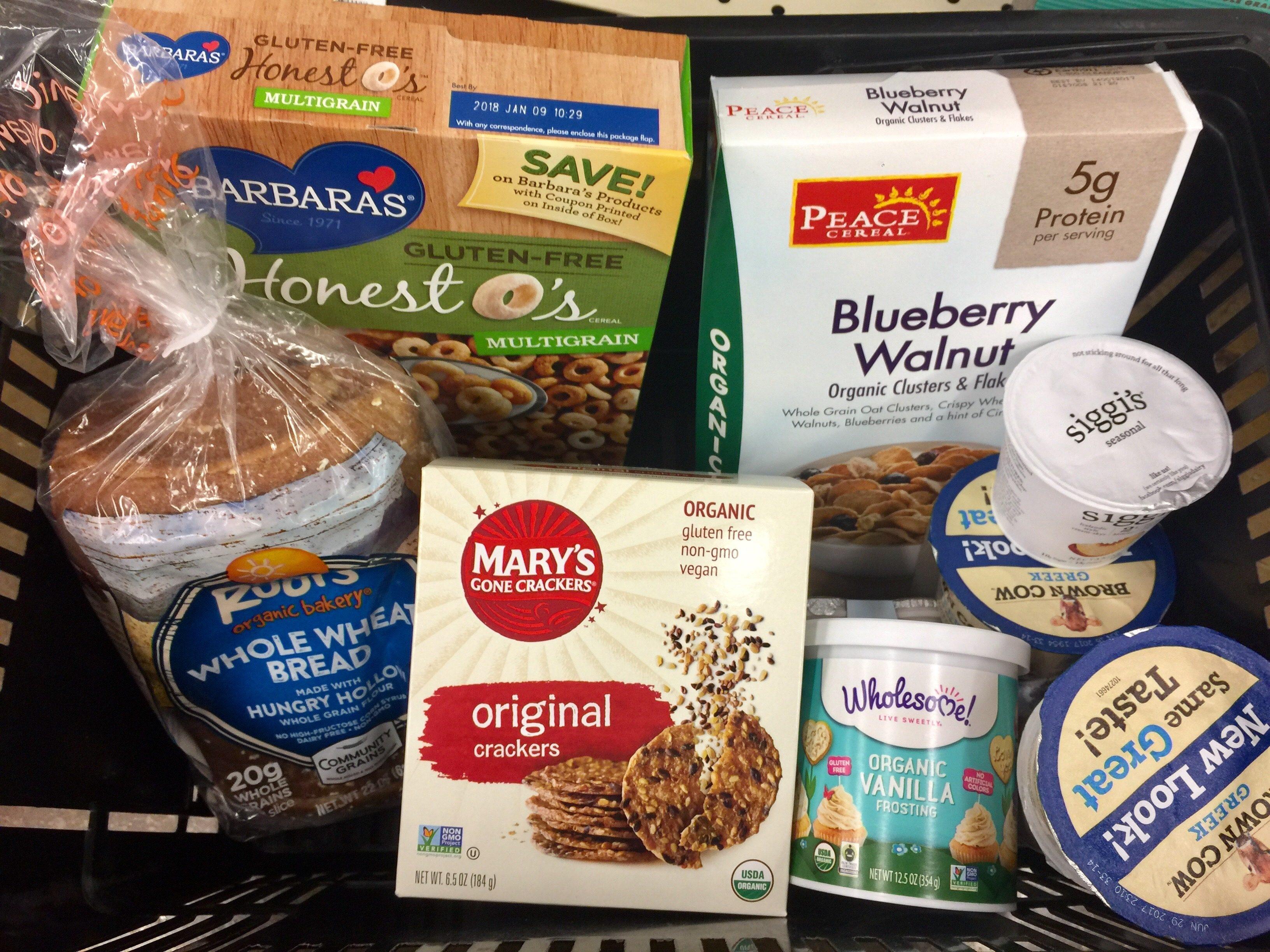 money-saving hacks at Whole Foods Market – basket of food items