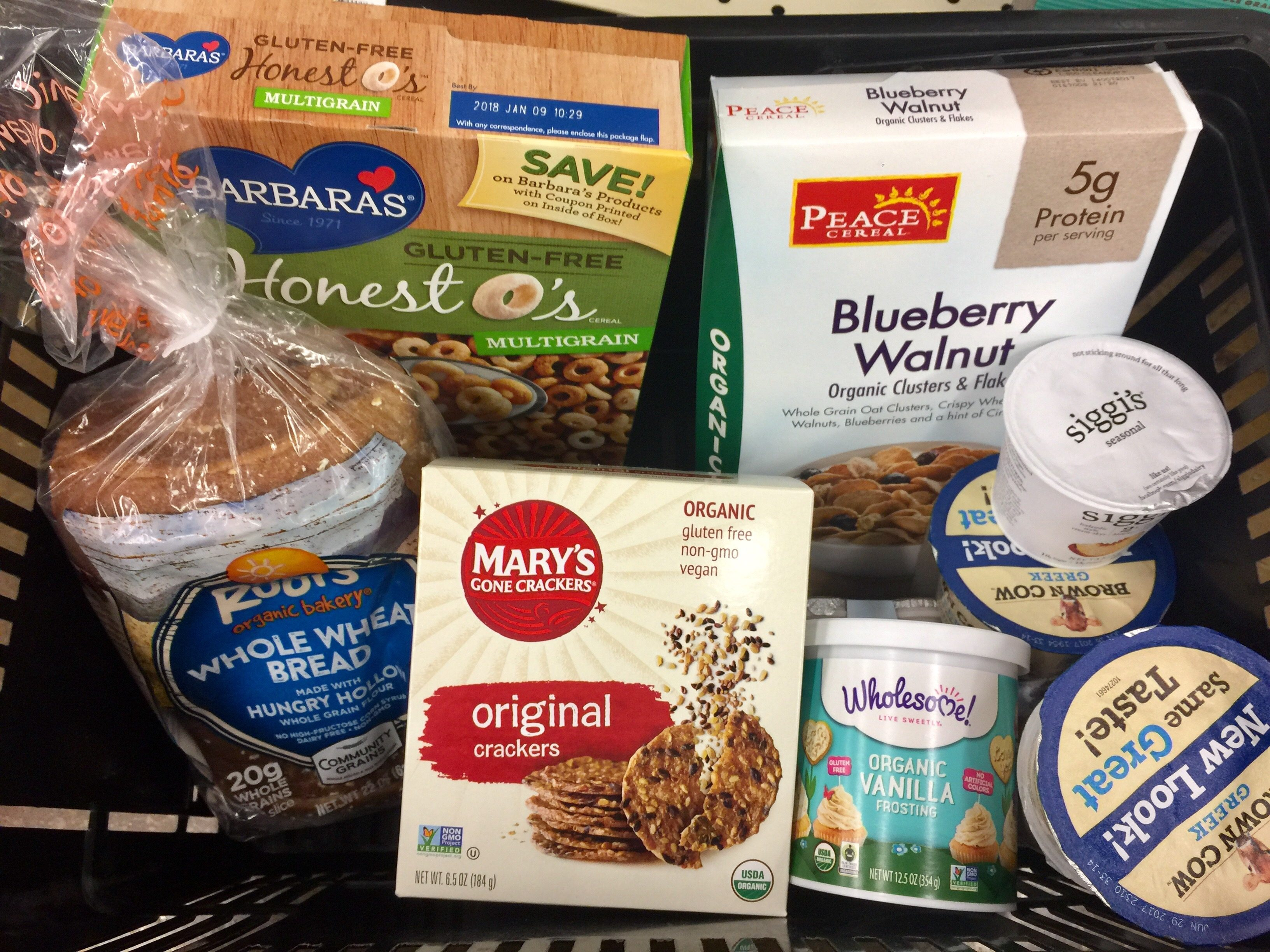 money-saving hacks at Whole Foods Market – basket of food items
