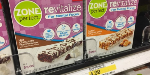 Target: ZonePerfect Revitalize Bars 5-Count Box Only $2.24 (Just 45¢ Per Bar)