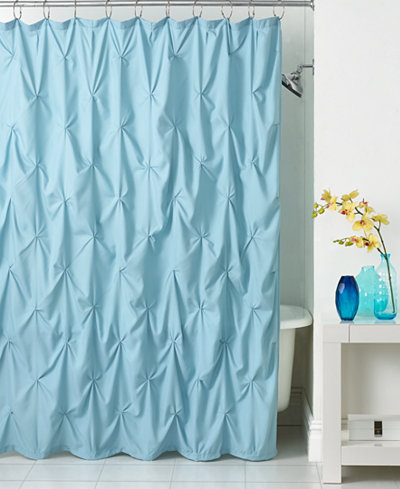 Martha Stewart Collection Basic Rib Shower Curtain CLOSEOUT