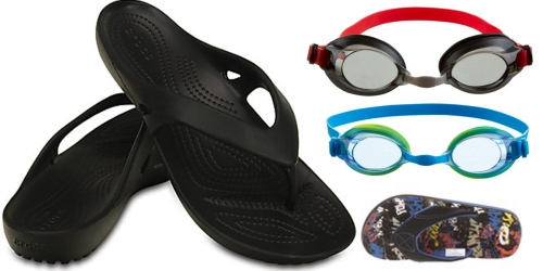 Academy Sports: Speedo Goggles Only $1 Each, Crocs Flip-Flops $9.98 Shipped & More