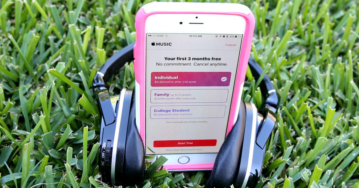 22 college student discounts & freebies – Headphones and a mobile phone in the grass