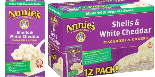 Amazon Prime: 12 Boxes Annie's Shells & White Cheddar Mac & Cheese Only $8.29 Shipped