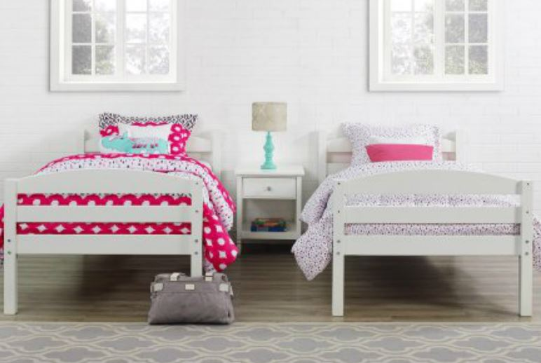 Walmart Wood Bunk Bed Set 2 Twin Mattresses Just 179