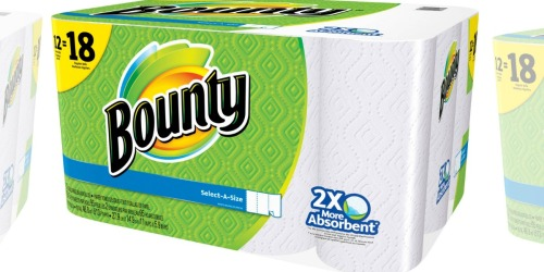 Target.com: Bounty GIANT Rolls 12-Packs Only $10.43 Each (After Gift Card) – 86¢ Per Roll