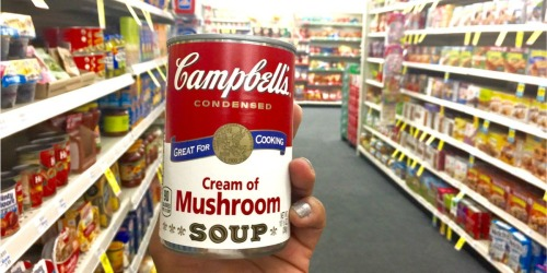 Campbell's Condensed Cream of Mushroom Soup 4-Pack Just $3 on Amazon