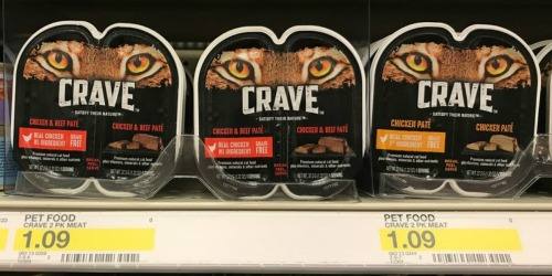 Over $10 Worth of New CRAVE Dog & Cat Food Coupons = Save Over 45% at Target