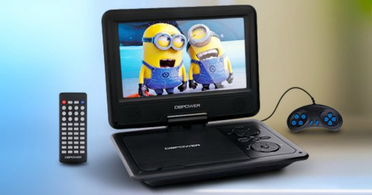 amazon 9 5 portable dvd player w game controller only shipped hip2save. Black Bedroom Furniture Sets. Home Design Ideas
