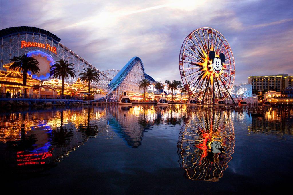 disney california adventure roller coaster and ferris wheel