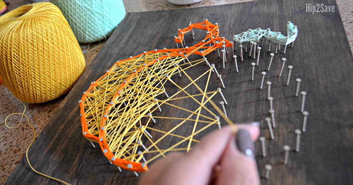 pumpkin string art diy