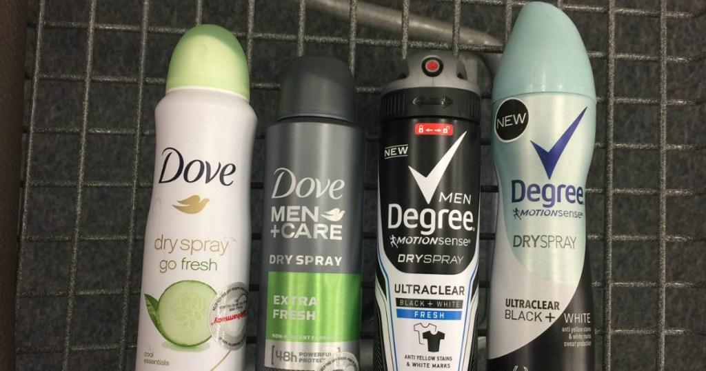 Dove & Degree Dry Spray