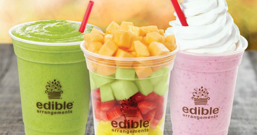 edible arrangements smoothies and fruit cup