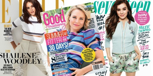 FREE 1-Year Subscriptions To ELLE, Good Housekeeping & More Magazines