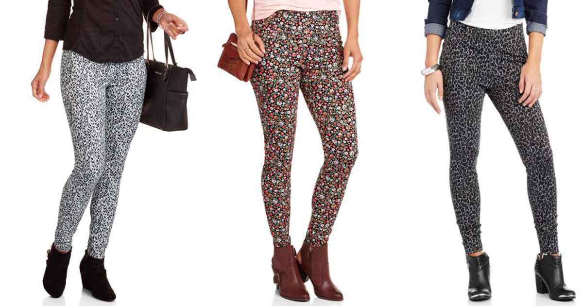 b8ef358d99d0e Walmart: Faded Glory Women's Printed Jeggings Only $3 + More Clearance Deals  - Hip2Save