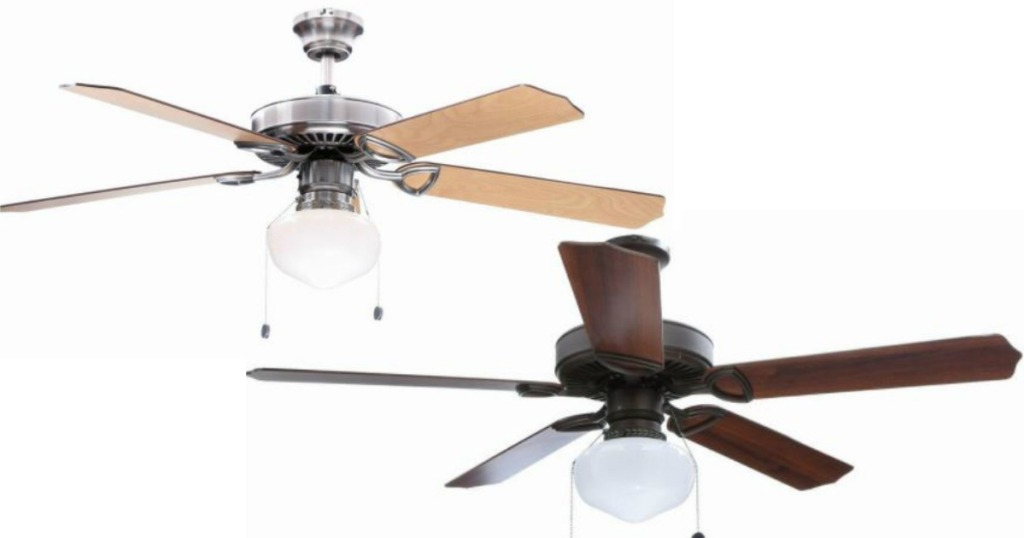 Home Depot: Hampton Bay Ceiling Fan With Light Only $38.82