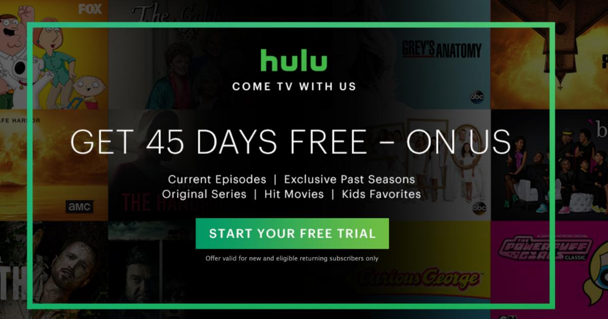 Hulu 2 month free trial