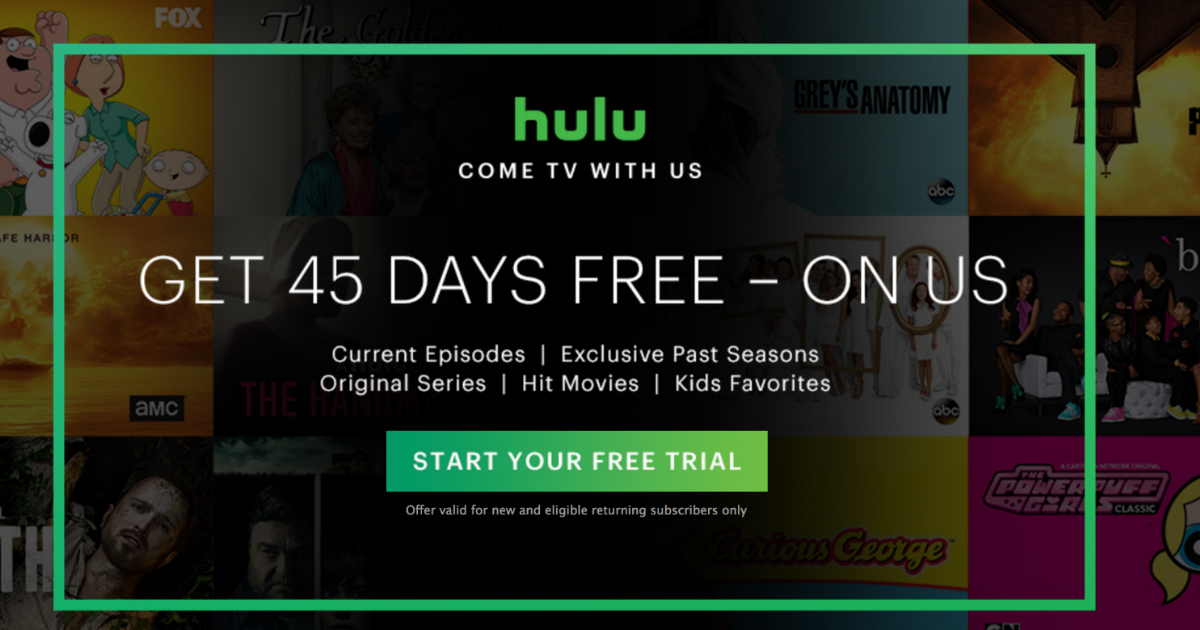 Hulu Free 45 Day Trial For New And Returning Subscribers Hip2save