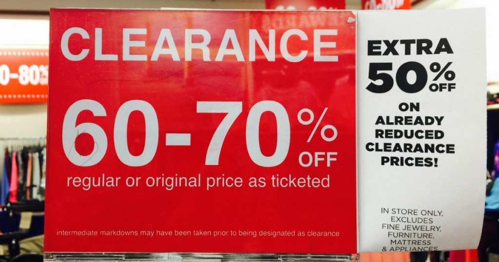c80c9e228319 Consider heading to your local JCPenney where you may spot signs offering  up an extra 50% off already reduced clearance prices!