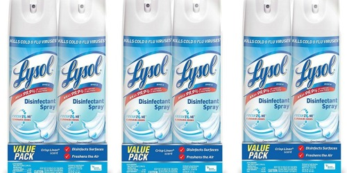 Amazon: Lysol Disinfectant Spray 2-Pack Only $5.30 Shipped (Just $2.65 Each)