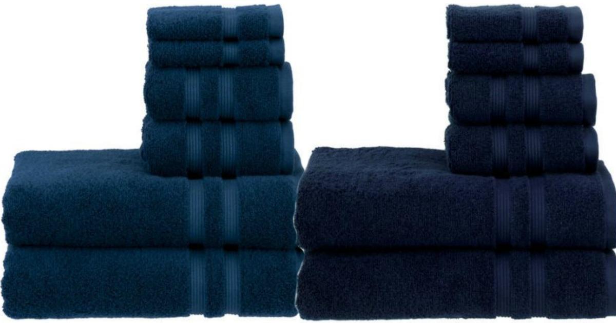 Walmart Com Mainstays 6 Piece Bath Towel Set Only 7 13 Regularly