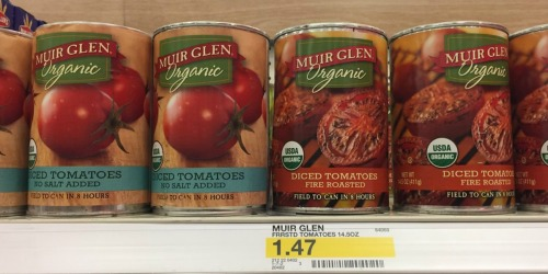 Target Shoppers! Muir Glen Organic Tomatoes and Sauce Only 68¢ Each
