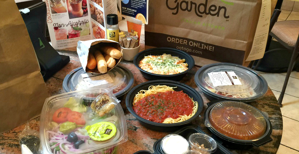 Get an Olive Garden dessert free on your birthday, or sign up for emails for deals like this to-go dinner.