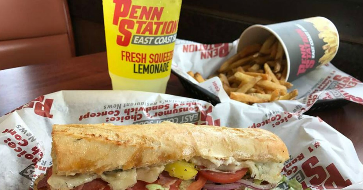 picture regarding Penn Station Printable Menu identified as Obtain 1 Receive 1 Totally free Penn Station Subs Coupon - Hip2Conserve