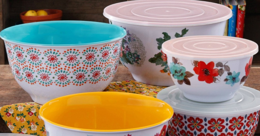 five pioneer woman mixing bowls