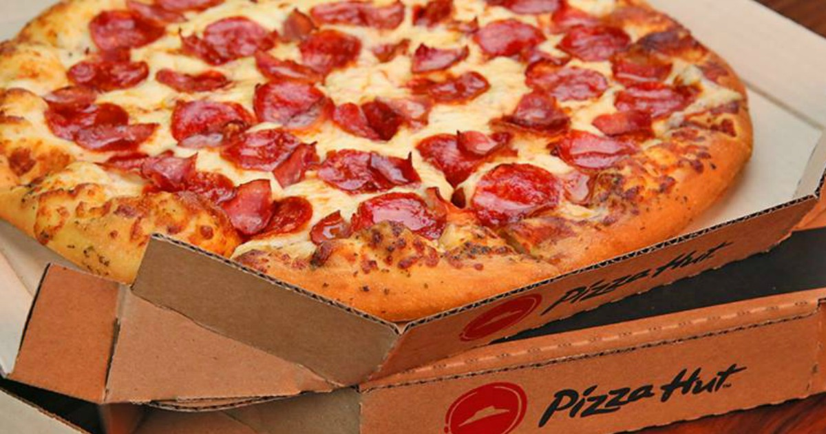 Pizza Hut Pepperoni Pizza in Pizza Hut Box