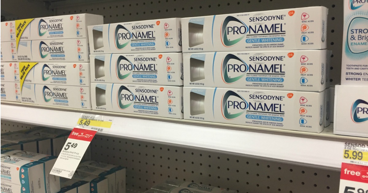 graphic about Sensodyne Printable Coupon known as Emphasis: 50% Off Sensodyne Pronamel Toothpastes - Hip2Conserve