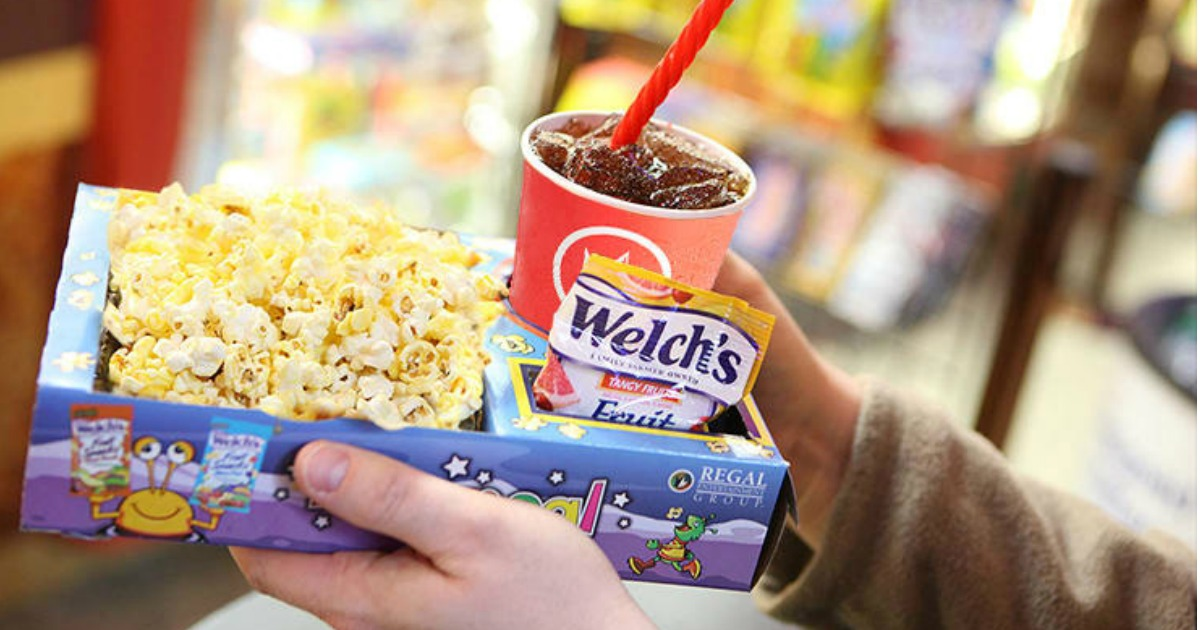 discounted kids summer movie offers – snack tray with a drink