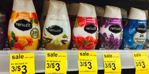 Walgreens Shoppers! Renuzit Air Freshener Cones Only 73¢ Each