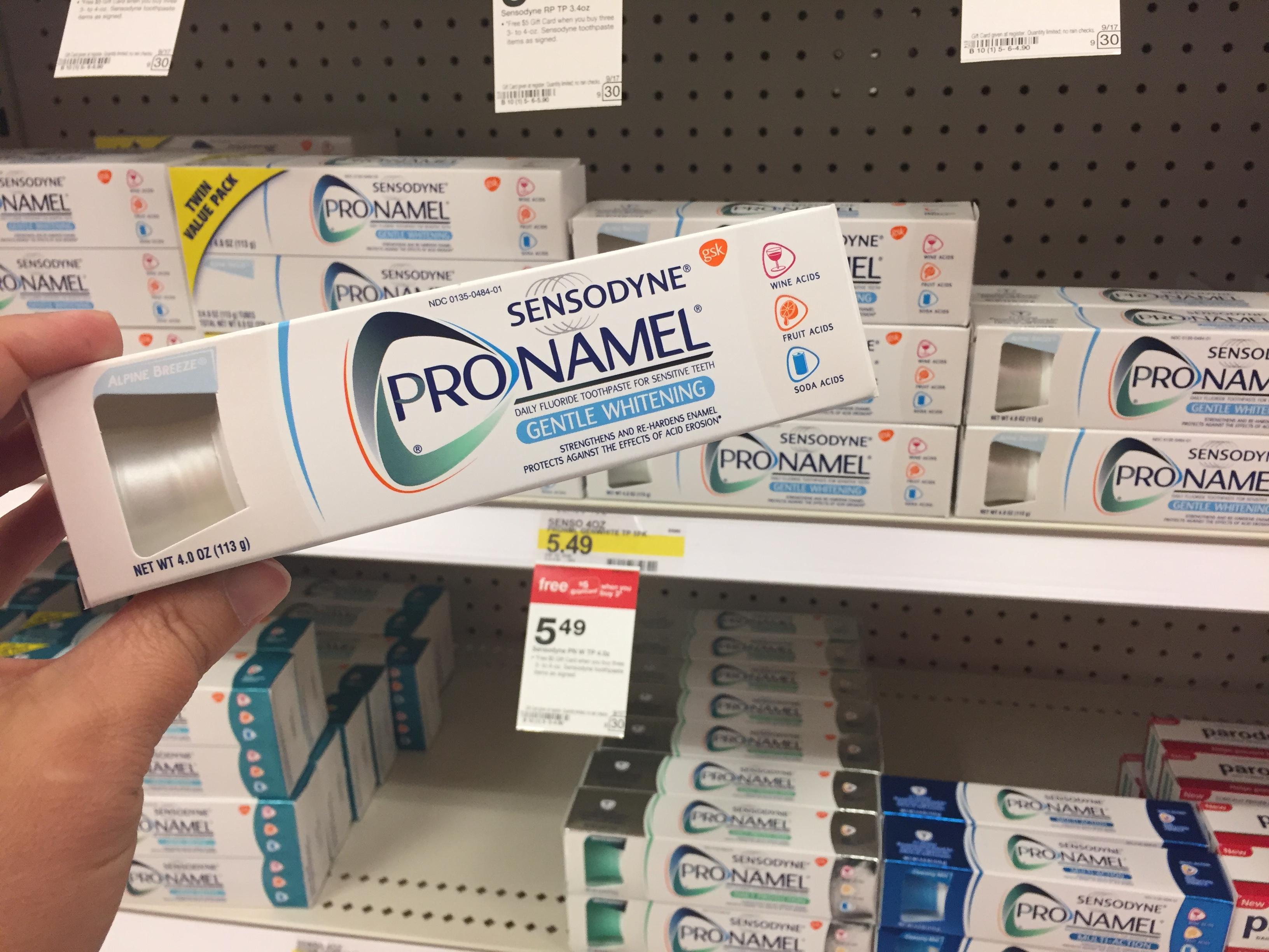 photograph relating to Sensodyne Printable Coupon identify Focus: 50% Off Sensodyne Pronamel Toothpastes - Hip2Preserve