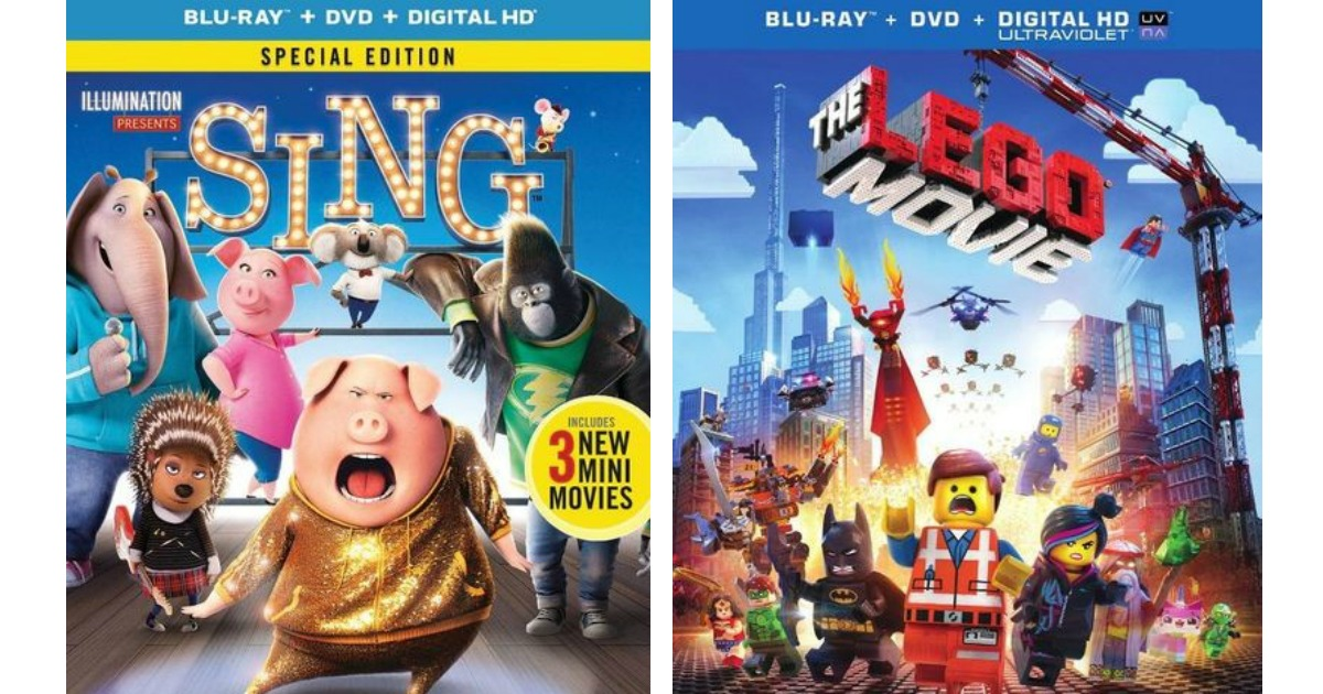 Best Buy: SING Special Edition Blu-ray + DVD + Digital HD ONLY $8.99 (Regularly $25) + More