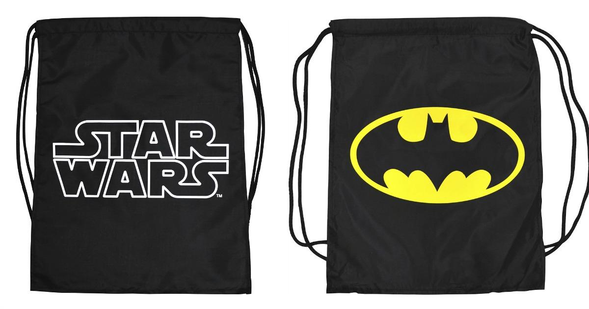 Batman and Star Wars Cinch Bags