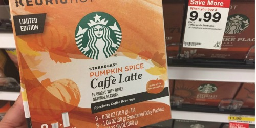 Target: Starbucks Pumpkin Spice Caffe Latte K-Cups 9-Count as Low as $6.33 Each